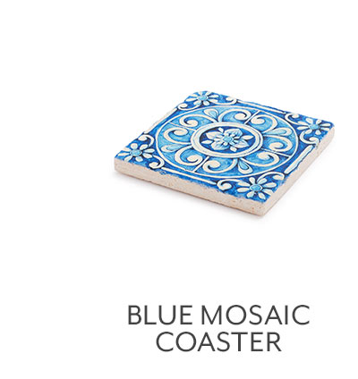 Blue Mosaic Coaster