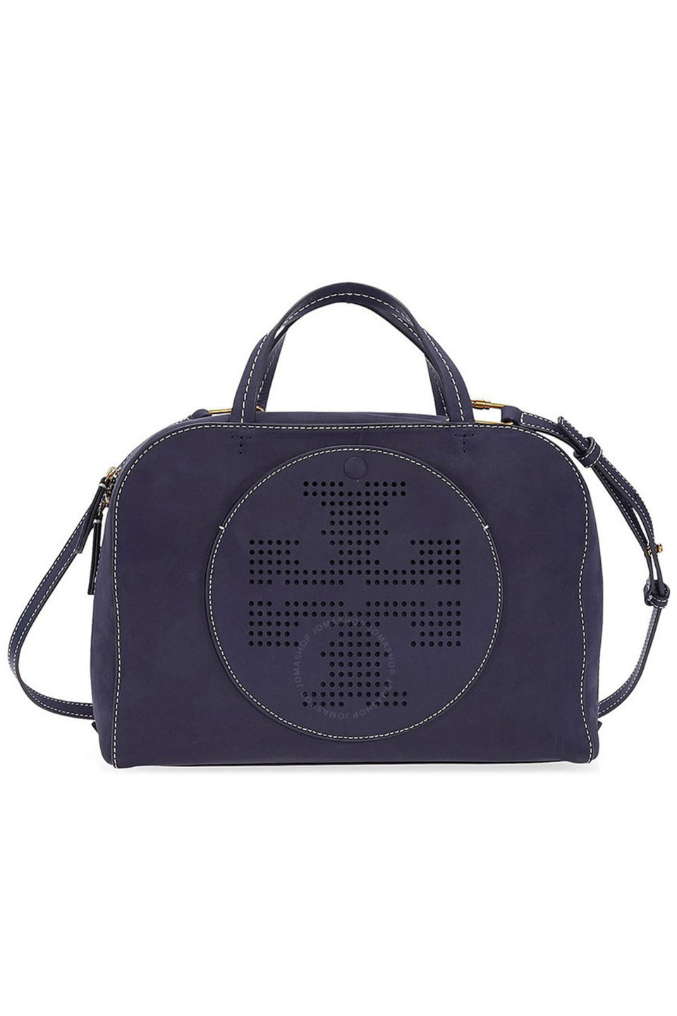 Perforated Logo Satchel in Tory Navy