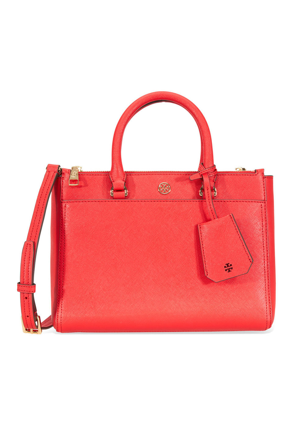 Robinson Small Double-Zip Tote in Red