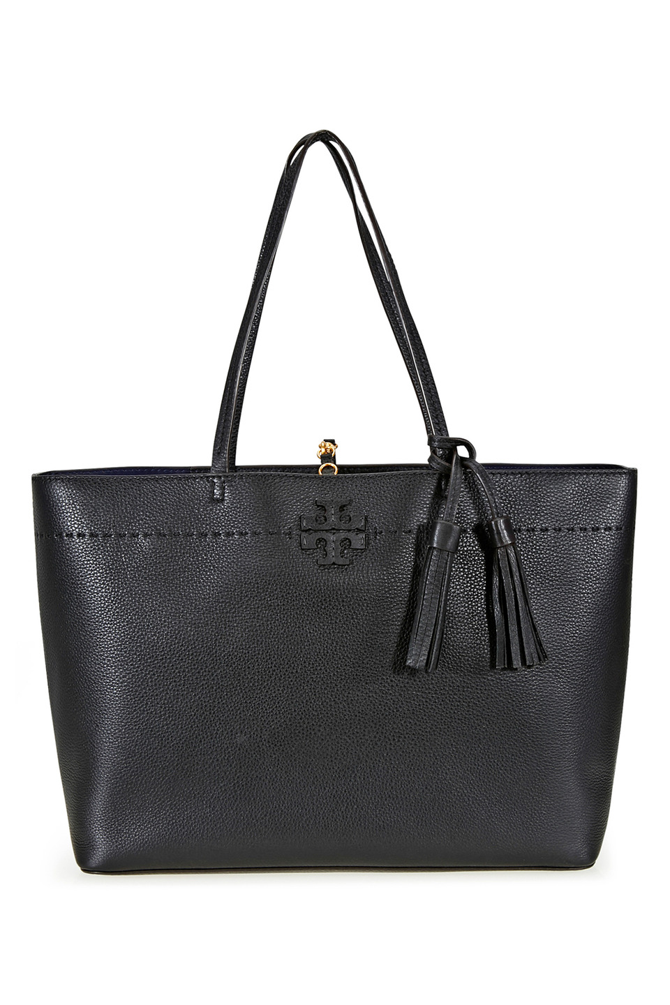 Mcgraw Tote in Black and Royal Navy