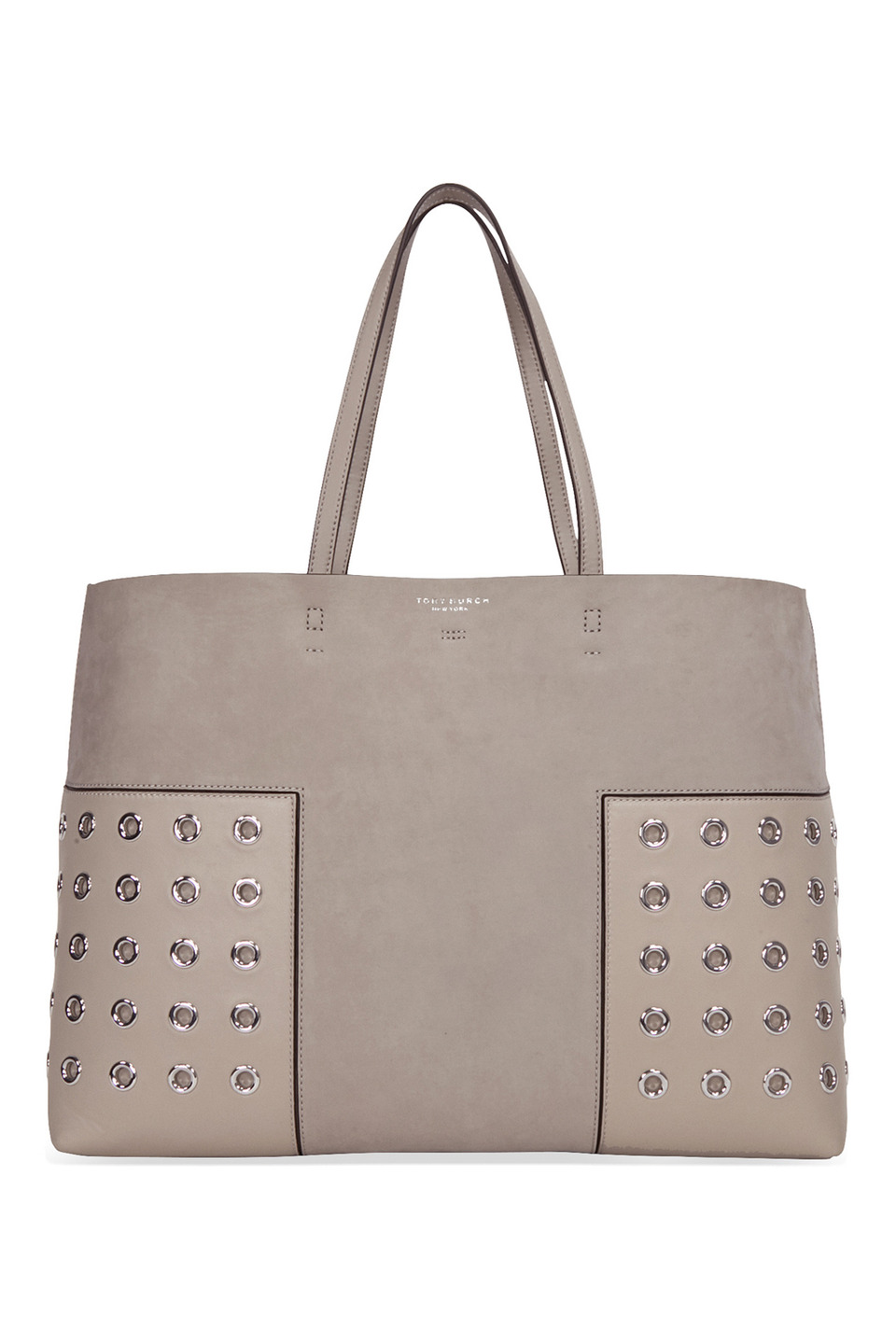 Block-T Grommet Tote in French Gray