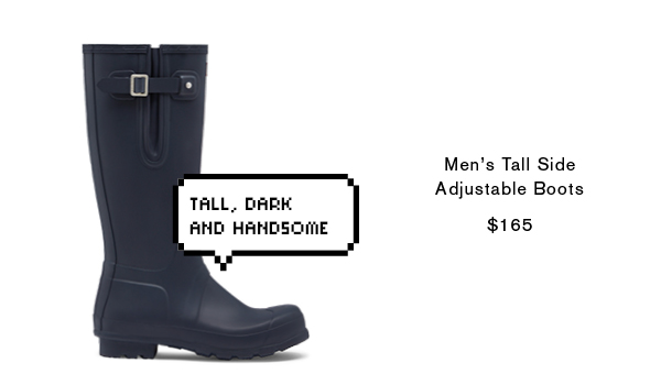 Men's Original Tall Side Adjustable Boots: Navy