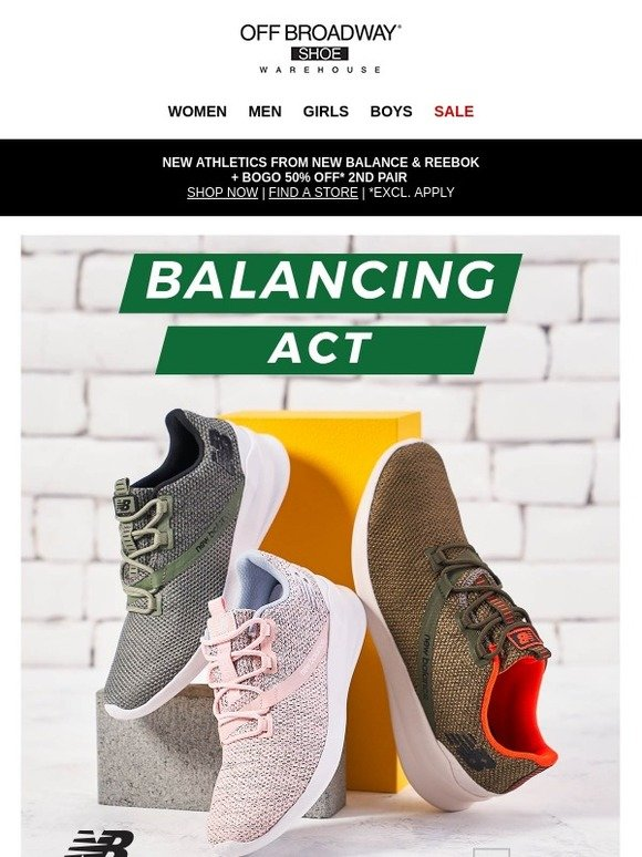490e24f3a42a Off Broadway Shoes  ✓ Check it out  new New Balance and Reebok athletics
