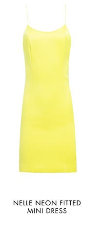 NELLE NEON FITTED MINI DRESS
