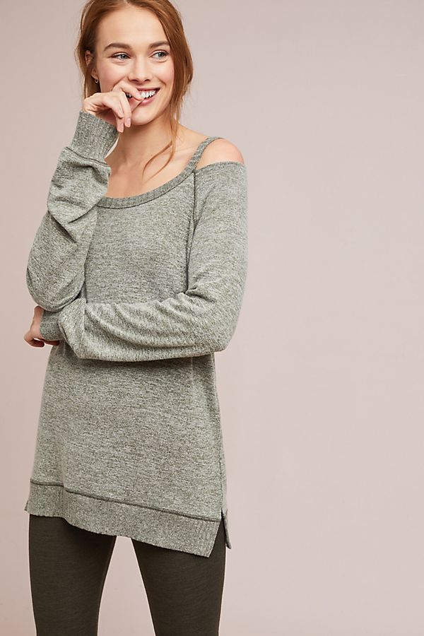 Cutout Brushed Fleece Pullover