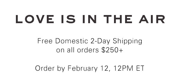 free domestic 2 day shipping on orders over 250
