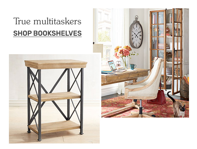 Shop bookshelves.