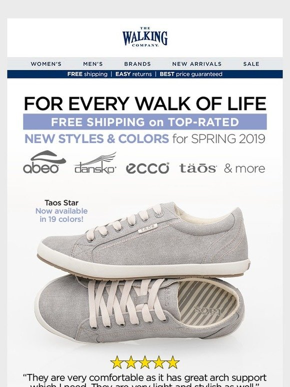 The Walking Company Email Newsletters