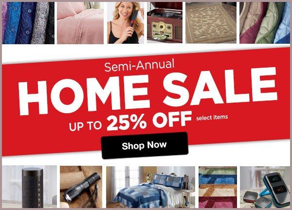 Shop Semi-Annual Home SALE!