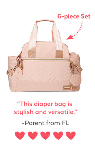 6-piece set | 'This diaper bag is stylish and versatile.' - Parent from FL