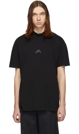 A-Cold-Wall* - Black Mock Neck T-Shirt