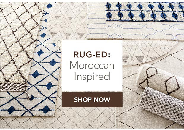 Rug-Ed: Moroccan Inspired. Shop Now