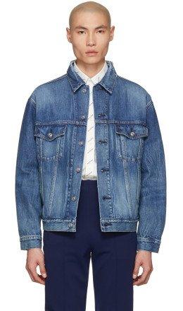 Balenciaga - Blue Denim Logo Jacket