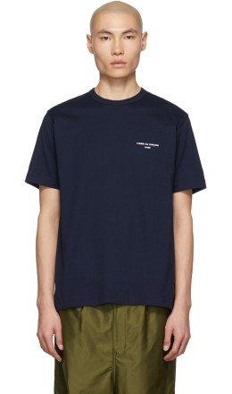 Comme des Garçons Homme - Navy Logo T-Shirt