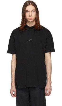 A-Cold-Wall* - Black Mock Neck T-Shirt