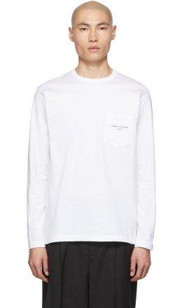 Comme des Garçons Homme - White Logo Long Sleeve T-Shirt