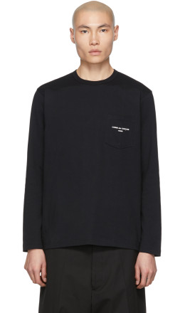 Comme des Garçons Homme - Black Logo Long Sleeve T-Shirt