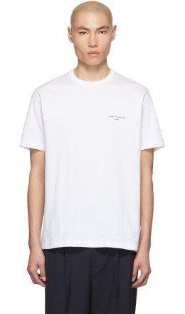 Comme des Garçons Homme - White Logo T-Shirt
