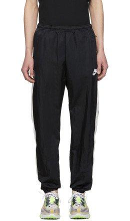 Nike - Black & White Woven NSW Lounge Pants