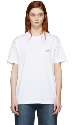 Comme des Garçons Homme Plus - White Logo T-Shirt