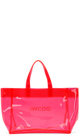 Junya Watanabe - Pink Transparent 'JWCDG' Tote