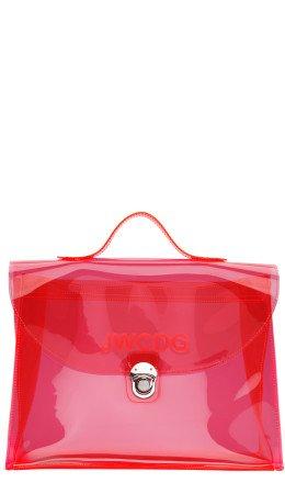Junya Watanabe - Pink Transparent 'JWCDG' Top Handle Bag