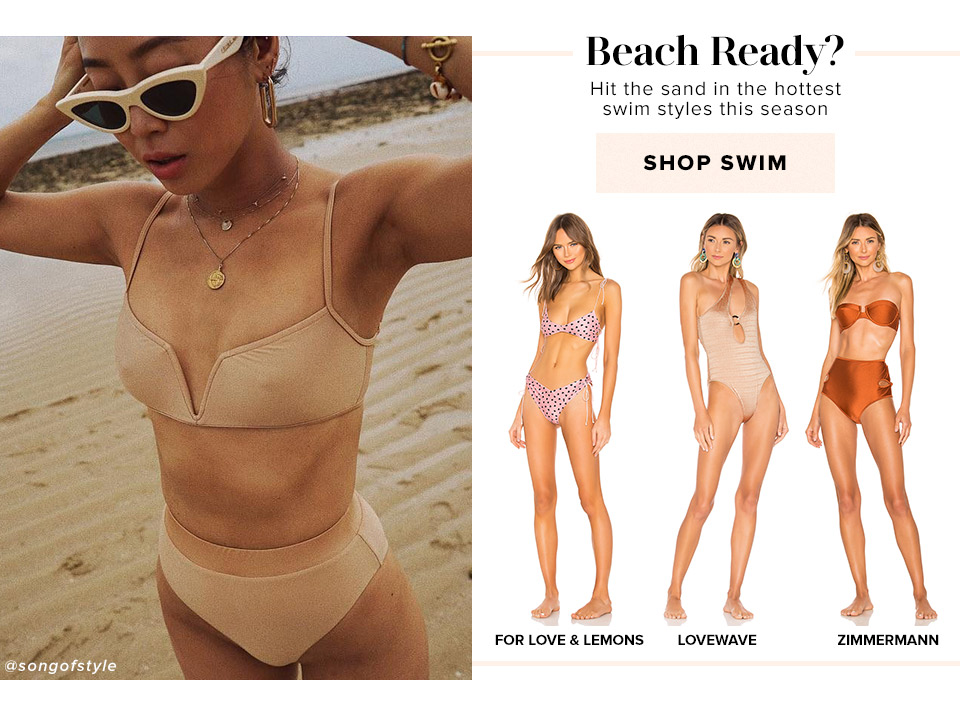 Beach Ready? Hit the sand in the hottest swim styles this season. Shop Swim.