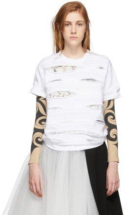 Junya Watanabe - White Lace T-Shirt