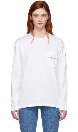 Comme des Garçons Homme Plus - White Logo Long Sleeve T-Shirt