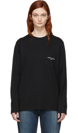 Comme des Garçons Homme Plus - Black Logo Long Sleeve T-Shirt