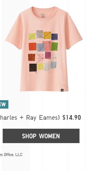 SPRZ NY GRAPHIC T-SHIRT (CHARLES & RAY EAMES) $14.90 - SHOP WOMEN