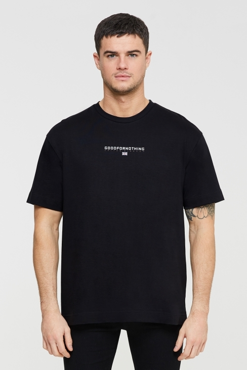 Tech Oversized Black T-shirt