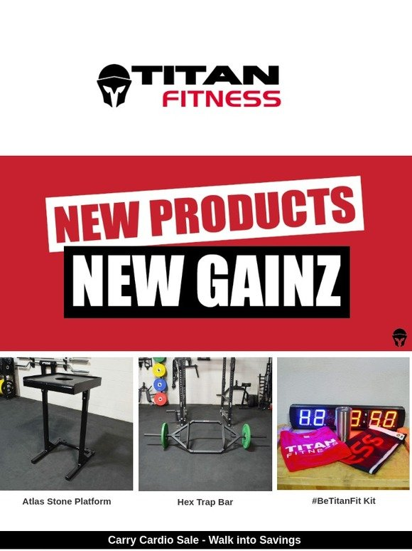 Titan Fitness: ❤Love is   New Products + Savings | Milled