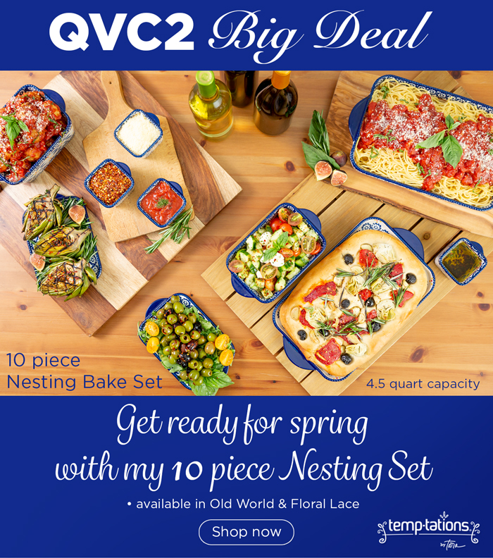 Temp-tations: QVC2 Big Deal•10pc Nesting Bake Set•under $55