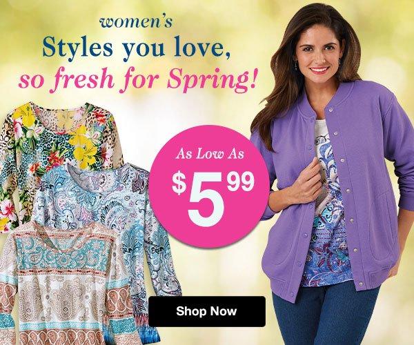 Shop Women's Spring Preview!