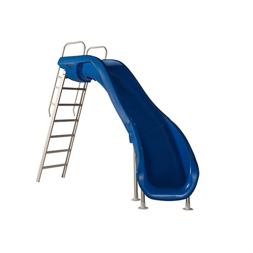 S.R. Smith Rogue2 Pool Slide With Right Curve, Marine Blue