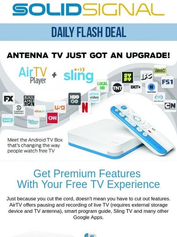 Solid Signal: Upgrade Your Free TV Experience With The AirTV