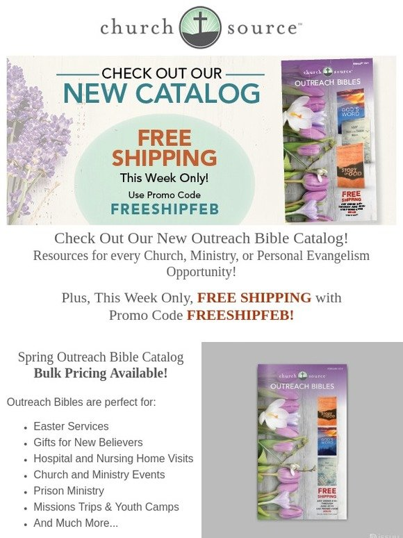 ibsdirect com: Need an Outreach Bible? Our Spring Outreach Catalog