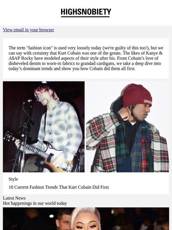 1422e35031 Heschung Comme Des GarçOns  10 fashion trends that Kurt Cobain did first.
