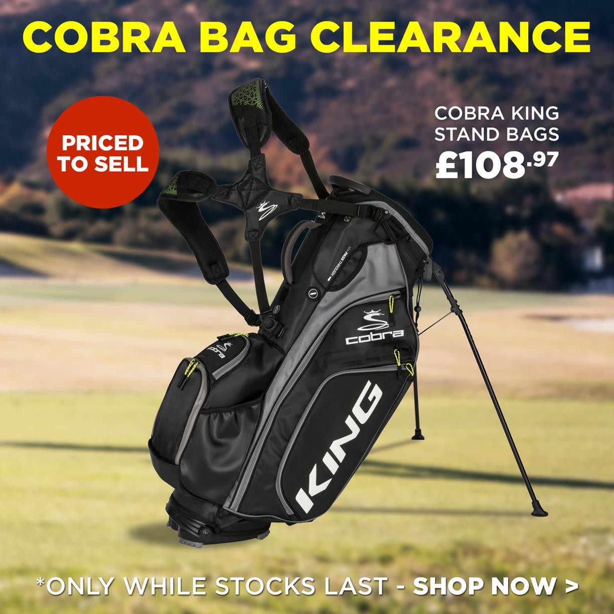 Golf Support Cobra King Stand Bags Clearance New Stock