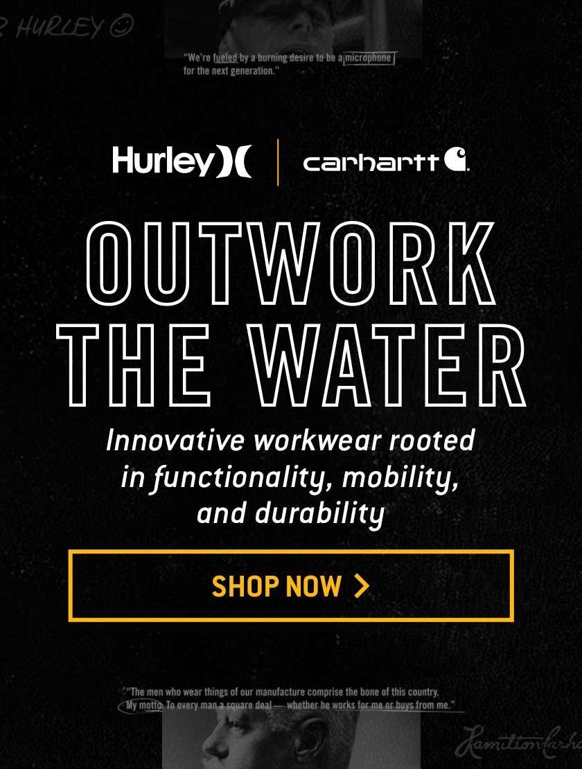 SHOP HURLEY X CARHARTT