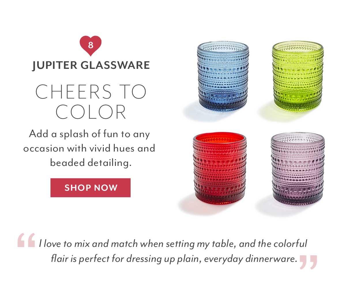 Jupiter Glassware