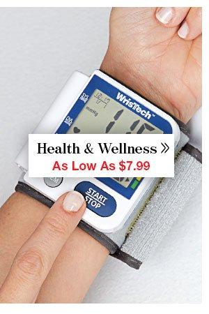 Shop Health & Wellness!