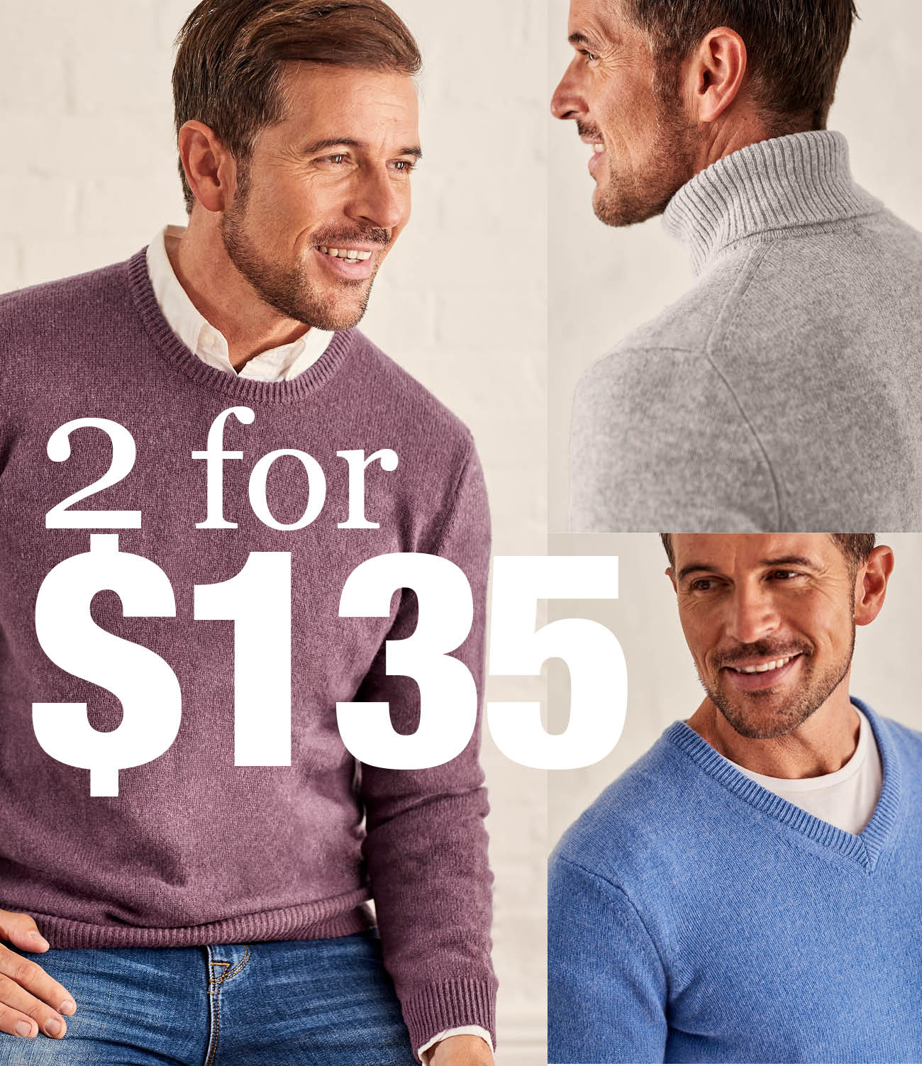 Buy any 2 Lambswool knits for $135