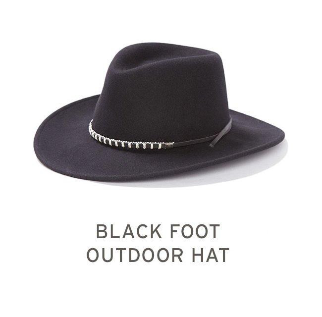 Black Foot Outdoor Hat