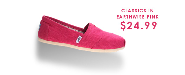 WOMENS CLASSICS IN EARTHWISE PINK