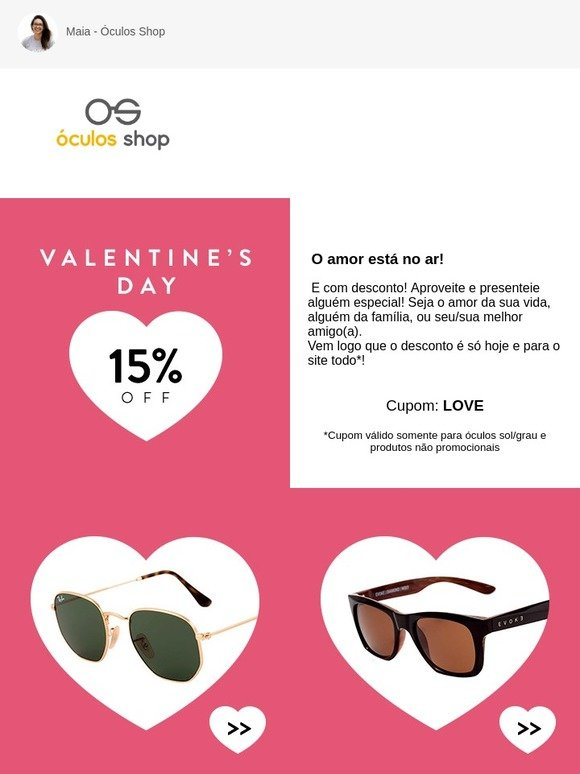 18812abbf Oculos Shop BR: ☰ 15% OFF com amor! | Milled