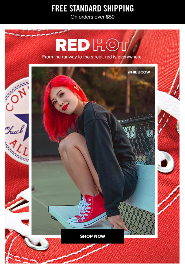Shop Now: Converse Red Shoes