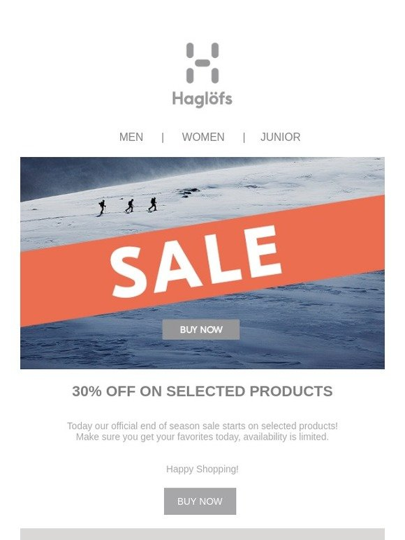 a57ce372606 Haglöfs SE: 30% OFF ON SELECTED PRODUCTS | Milled