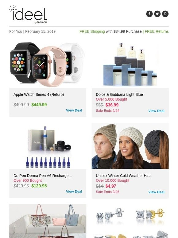 Ideeli: Apple Watch Series 4 (Refurb), Dolce & Gabbana Light